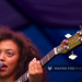 Mahalia playing her Epiphone Jack Casady Signature Bass, head
