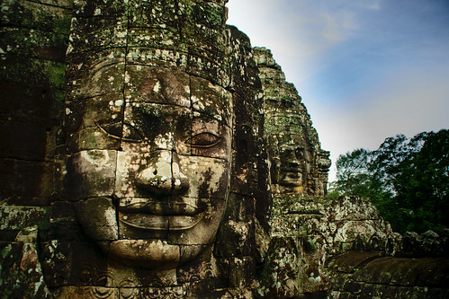Stone faces, Angkor Wat
