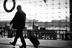 Traveller (michael.mu) Tags: leica m240 50mm leicanoctiluxm50mmf095asph noctilux berlin germany hauptbahnhof streetphotography blackandwhite bw silverefexpro blackwhite backlight silhouette