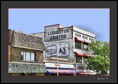 Ludington Centre (the Gallopping Geezer '4.2' million + views....) Tags: sign signs signage ghostsign faded worn wall building structure smalltown mainstreet escanaba mi michigan upperpeninsula up product ad advertise advertisement sales canon 5d3 tamron 28300 geezer 2016
