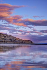 Scarlet ribbons (pauldunn52) Tags: cwm nash glamorgan heritage coast wales sunset storm bristol channel reflections wet sand beach