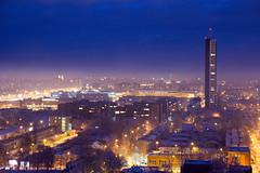 IMG_8640 (KarolisKybartas) Tags: klaipėda nightphotography long exposure city lights landscape snow winter roofs buildings building evening night
