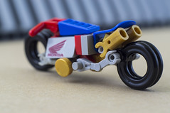 Nobu and his Honda Ahoudori (03) (F@bz) Tags: cyberpunk bike motorcycle lego wheel sf space scifi akira honda moc
