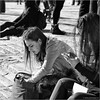 Can't find it (John Riper) Tags: johnriper street photography straatfotografie square bw black white zwartwit mono monochrome candid john riper canon 6d 24105 l woman lisbon lisboa portugal girl young lady hair searching sitting chilling angry iphone smart phone texting pavement