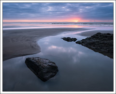 The Calm of Dawn (mistymornings99) Tags: serenity beach landscape calm serene sand water sea time photostyles amroth coast pembrokeshire rocks
