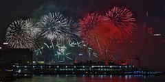 New Year 2016 Fireworks, Victoria Harbour, Hong Kong (Snuffy) Tags: fireworks victoriaharbour hongkong newyear westkowloon