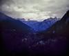 The Vršič Pass, Slovenia. (wojszyca) Tags: wanderlust cameras travelwide 90 4x5 largeformat schneiderkreuznach 90mm angulon gossen lunaprosbc epson v800 kodak ektachrome e100vs expired mountains landscape clouds overcast forest nature slovenia alps