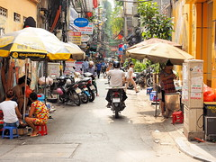 A busy lane in Hanoi (Digidoc2 - OFF FOR A LITTLE WHILE) Tags: hanoi vietnam laneway lane people busy hectice traffic city street urban iconic