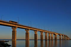 Ölandsbron (hannatornblom) Tags: architecture bridge water bro öland kalmar sweden sverige ölandsbron outdoor sky sunset nikon niko1 nikon1j5 january