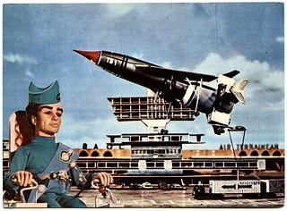 Thunderbirds postcard (1966)