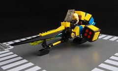 Songbird Surprise, Parked (Deltassius) Tags: lego speeder bike minifig scale scifi space vehicle
