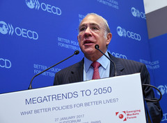 Presentation of: Megatrends to 2050 (Organisation for Economic Co-operation and Develop) Tags: secretarygeneralgurria openingthethe world 2050 striving for justprosperous harmonious global communityeventattheoecd angelgurriasecretarygeneraloecd emergingmarketsforum michelcamdessusformermanagingdirectorimfcochair paris france