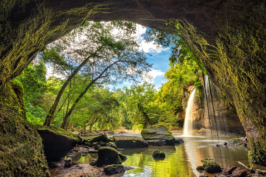 Haew Suwat Waterfall in Khao Yai National Park