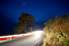Road Trip Romance (speedmatters) Tags: road street light summer sky motion hot travelling nature night canon dark stars eos islands la spain warm exposure driving view traffic automotive southern spanish nighttime 7d canary palma vacations longtime
