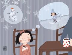 Aneka sn o zim (ivona.knechtlova) Tags: illustration fairytale drawing kresba ilustrace pohdka ilsutraceprodti