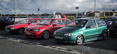Mine and 2 pals (David Kedens) Tags: fiat vauxhall astragsi mk2astra mk1punto retrocarsmeet