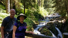 Fred & Laura at Sol Duc Falls