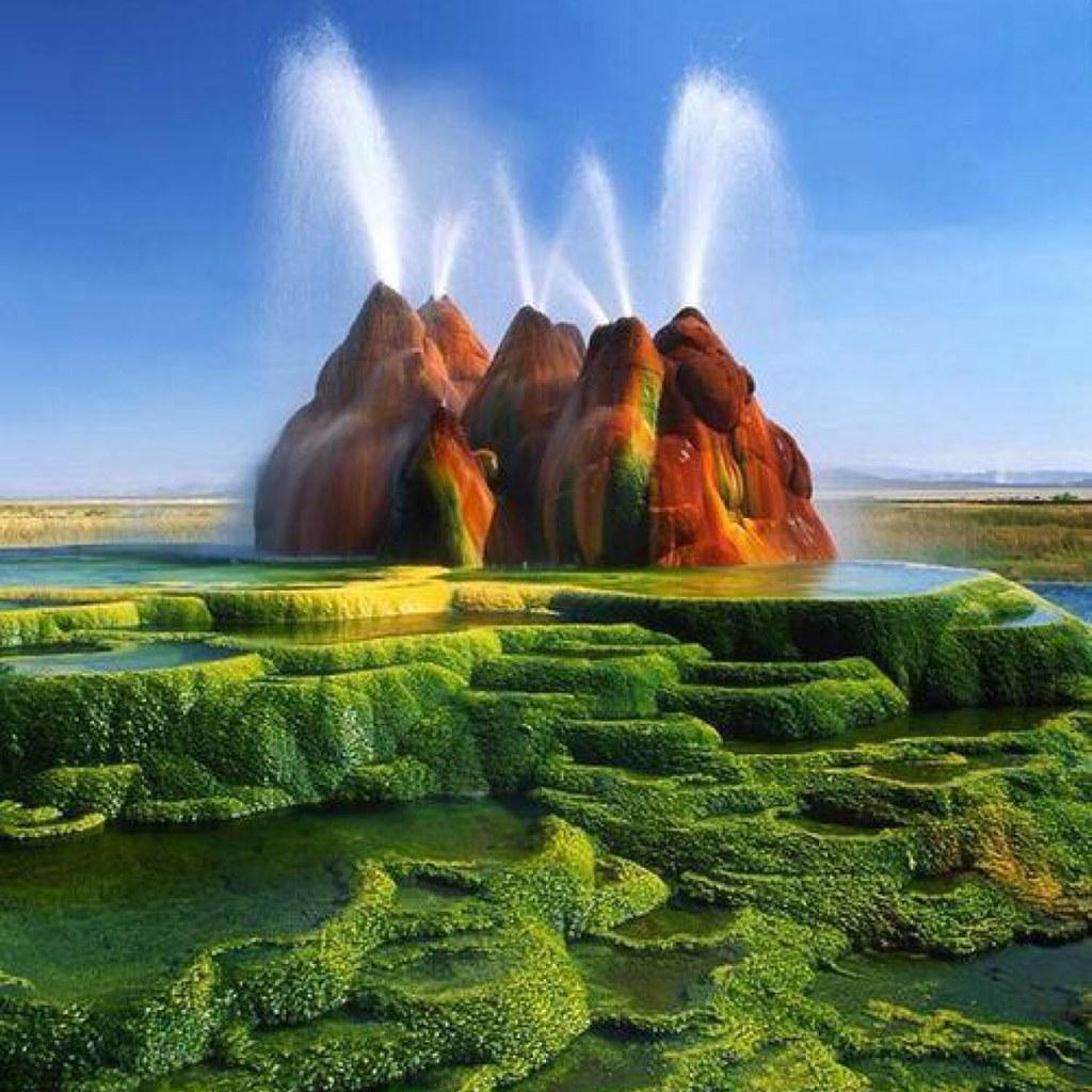 5Mạch nước ngầm kỳ lạ ở sa mạc Black Rock tạo nên một cảnh quang kỳ thú