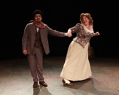 """Amir Talai as Ali Hakim and Heather Jane Rolff as Ado Annie in the 2010 Music Circus production of """"Oklahoma!"""" at the Wells Fargo Pavilion July 27-August 1.  Phot by Charr Crail."""