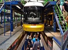 Walking under the tram, Berlin (berlinka_lg) Tags: travel berlin germany deutschland reisen transport tram publictransport tramvaj bvg betriebshof strasenbahn