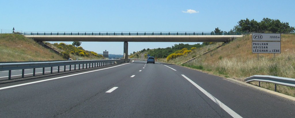 A75 173 European Roads Tags France La Autoroute Bziers Pzenas Mridienne