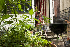 Chris in the back grilling on the 4th (karenchristine552) Tags: decorations summer portrait food usa mist holiday selfportrait hot philadelphia rain fire backyard nikon westphiladelphia pennsylvania eating flag americanflag patriotic pa fourthofjuly philly local organic grilling 4thofjuly independenceday urbangarden holidaydecorations clarkpark westphilly universitycity earlyevening selfie backyardgarden organicgarden the4th cookingdinner nikond80 karenchristinehibbard christinehibbard karenchristine552 chrishibbard christyhibbard kchristinehibbard