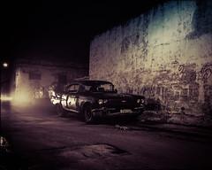 Havana Nights - Cuba (IV2K) Tags: street longexposure mamiya film night havana cuba centro analogue wreck cuban habana ilford kuba lahabana mamiya7ii 7ii