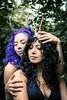 Evitan (Prima Wetter) Tags: girls woman love sisters silver hair purple outdoor horns siblings deer curly crown groupphoto horn