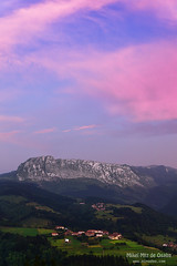 Itxina mountain with Zaloa and Urigoiti villages (Mimadeo) Tags: mountain mountains night rural evening countryside twilight spain village peak bizkaia euskalherria euskadi orozco vizcaya basquecountry paisvasco massif gorbea zaloa itxina orozko urigoiti