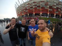 The Team outside Stadio Narodowy, Warzsawa!