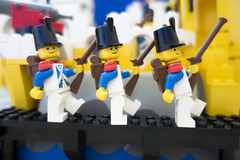 Left, right, left... (tomtommilton) Tags: macro toy soldier toys photo lego pirates navy photograph pirate legos marching imperial soldiers minifig minifigs supermacro minifigure bluecoats minifigures eldoradofortress