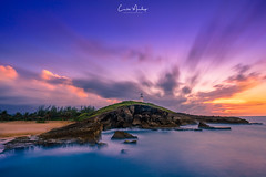 Sunset at the Lighthouse (CManchegoPhoto) Tags: ocean longexposure sunset seascape clouds puertorico arecibo ndfilter