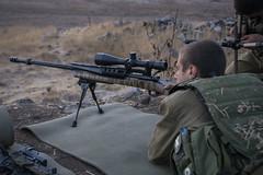 Givati Trains in Northern Israel (Israel Defense Forces) Tags: infantry sniper soldiers barak idf givati 338 sniperrifle groundforces 0338 hsprecisionproseries2000htr htr2000 idfbarak barakrifle baraksniperrifle