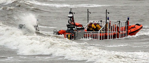 Porthcawl Lifeboat Launching