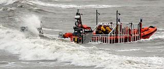 Porthcawl Lifeboat Launching