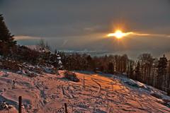 """Allons voir un coucher de soleil ..."" p. 26 .Winter Twilight Time. No. 6593. (Izakigur) Tags: helvetia romandie swiss alps alpes alpen alpi suiza suisia suizo suïssa myswitzerland lasuisse laventuresuisse liberty thelittleprince dieschweiz d700 switzerlnad ilpiccoloprincipe lepetitprince twilight twilighttime red snow vaud cantonvaud montreux schnee neige caux"
