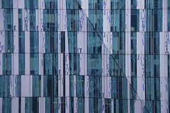 The Rock by Erick van Egeraat (2009) (Matthijs Borghgraef | Kwikzilver) Tags: matthijsborghgraef kwikzilver amsterdam modern architecture detail facade windows pattern lines building highrise zuidas printed glass