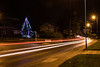 Billinge Xmas Tree (ianbonnell) Tags: billinge night sthelens merseyside xmaslights xmastree lighttrails