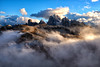 Sunset in the Dolomites (hunblende) Tags: dolomiti dolomites outdoor landscape nature clouds cloudysky italy nopeople sunset wow