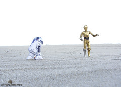 I'm not going that way! (Rezso Kempny) Tags: star wars hasbro black series r2d2 r2 d2 kaiyodo revoltech revo c3po tatooine