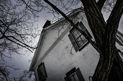 Into the Gloaming (drei88) Tags: forlorn cloudy dark bleak december newyear historic federal federalarchitecture windswept snow freezing windy brooding atmosphere