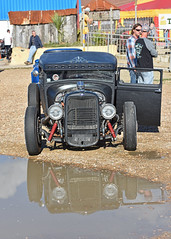 Just another Ford.. (Harleynik Rides Again.) Tags: ford hotrod ratrod chopped haylingisland v8 water puddle reflection nikond810 harleynikridesagain