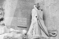 magic square Subirachs (gaudi) (PedroSolitario) Tags: gaudi sagrada familia barcelona subirachs church iglesia art arquitectura mason 33 mistery misterio enigma escultura ngc bw