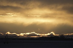 "Morgan County (Colorado) Road 6/600, between MCR O and MCR M, SE of Wiggins - 40°11'56"" N 104°2'14"" W - PLDL2482 (Paul L Dineen) Tags: morgancounty colorado sunset sprinkler centerpivotsprinkler landscape nature"