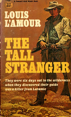 Novel-The-Tall-Stranger-by-Louis-L'Amour (Count_Strad) Tags: novel book pages read reading pulp louislamour western oldwest gunfight outlaw indian cowboy