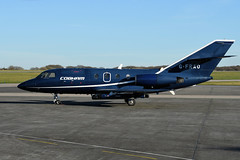 Falcon 20DC, G-FRAO (WestwardPM) Tags: dassault falcon falcon20 gfrao cobham cornwallairportnewquay newquayairport