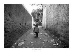 India Portrait - Varanasi (Vincent Karcher) Tags: asia india varanasi vincentkarcherphotography art beauty blackandwhite culture documentary human noiretblanc people portrait project reportage rue street travel voyage world kid girl fille child children