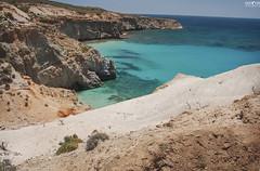 Tsigrado Beach (kana movana) Tags: milos island cyclades greece greek travel tsigrado beach sea water coast coastline cliffs rocks shallow turquoise paradise d90