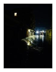 R0044575.1 (seba0815) Tags: ricohgrdiv grdiv nightfoto night dark darkphotography reflection water rain wet streetphotography neonlights light building color contrast urban hotel mallorca island walk mood alone seba0815