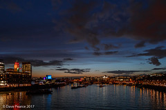 River Thames blue hour (Dave Pearce (London)) Tags: gabrielswharf water boats buildings studios itv southbank eye cocacola london river sunset sky seacontainers 18135 canon80d handheld lowlight night bluehour riverthames